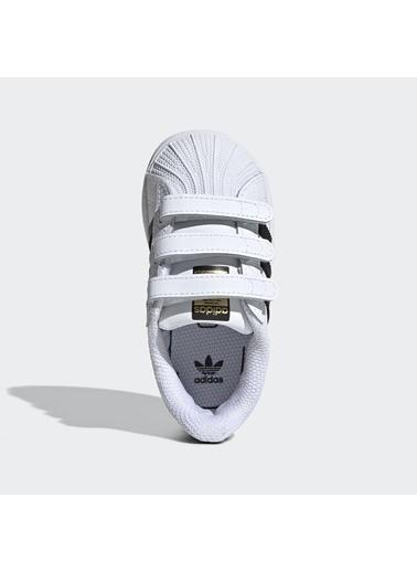 adidas Unisex Çocuk Superstar Cf I Spor Ayakkabı EF4842 Beyaz